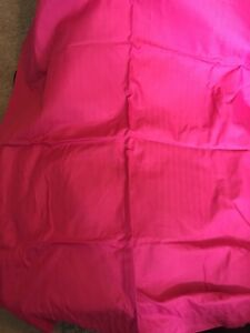 Bright pink curtains pair black out