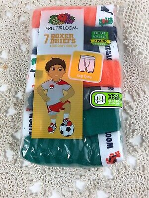 Fruit of the Loom Boys' Toddler 7 Pack Boxer Brief, Assorted, 4T/5T New Sealed