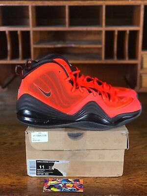 competitive price 939a4 1172c Nike Air Penny V 5 Mens Basketball Shoe Crimson Orange Black 537331-800 Size  11