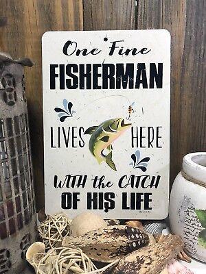 Fishing Sign - Fishing Decor-Fishing Sign -  12x8 Sign - Cabin Decor - Man Cave (Fishing Decor)