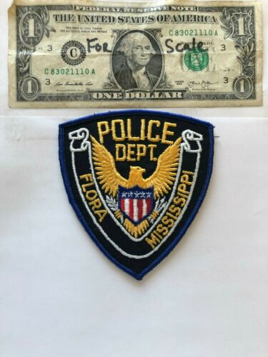Very Rare Flora Mississippi Police Patch Un-sewn great condition