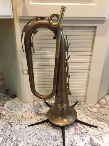 Excellent Bb 7 key Keyed Bugle