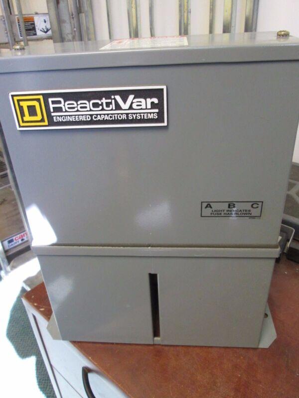 Square D Reactivar Power Factor Correction Capacitor PFCD4002 2.5 KVAR 480V Used