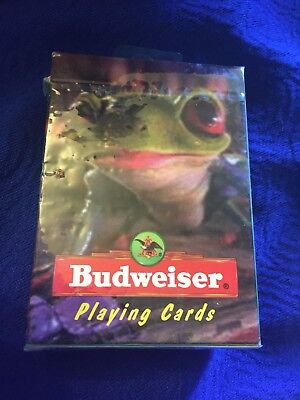 Vtg 1996 Budweiser Frogs Playing Cards Sealed NOS