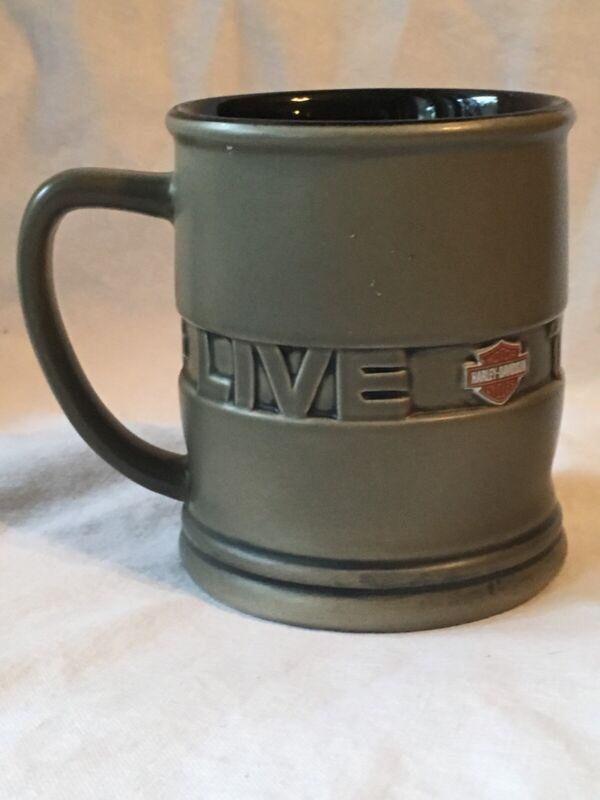 Harley Davidson Motorcycles Live To Ride Embossed Coffee Mug