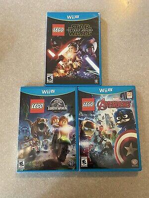 Lego Wii U Games - Star Wars, Avengers, and Jurassic World
