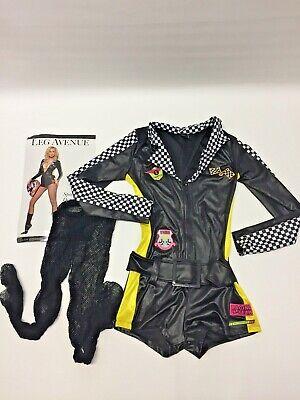 Leg Avenue Women's Sz. S/P Speed Demon Costume GUC Free Shipping - Speed Demon Halloween Costume