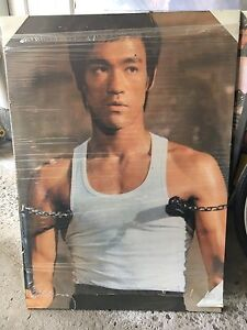Bruce Lee print on dry mount frame