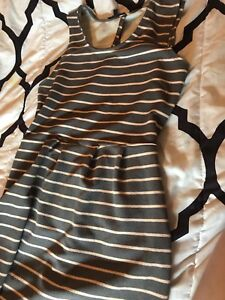 Sussex: Grey and pink stripped dress