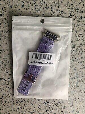 apple watch woven nylon strap Lilac