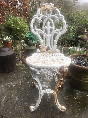 Coalbrookdale Style Cast Iron Garden Chair French Foundry 19th Century