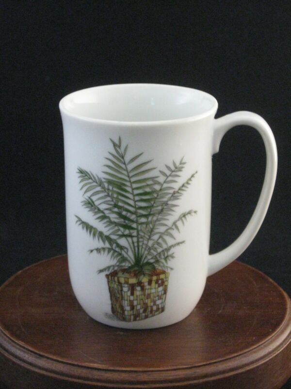 "Fine Porcelain Plant Study ""Palm"" Mug by Enesco 1975"