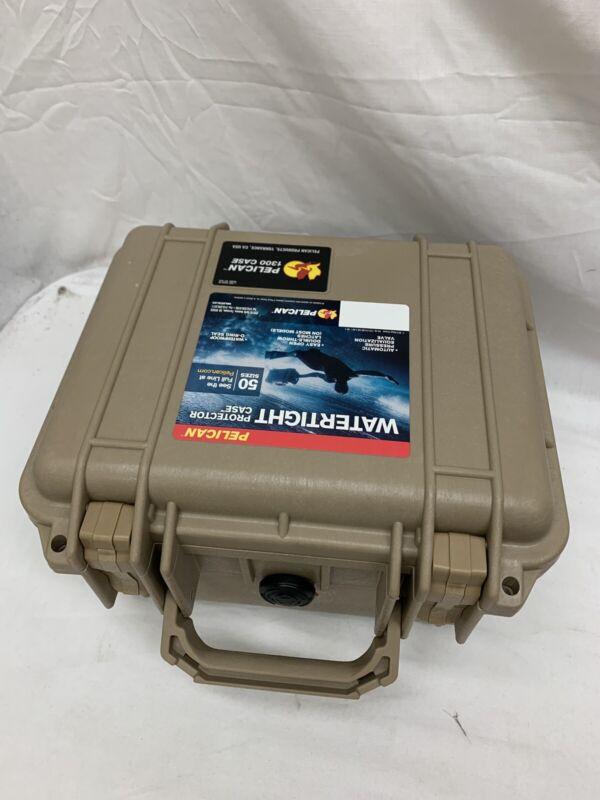 Pelican 1300 Small Case without Foam Desert Tan #1300001190