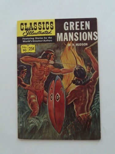 Classics Illustrated #90 - GREEN MANSIONS - HRN 169 VGFN