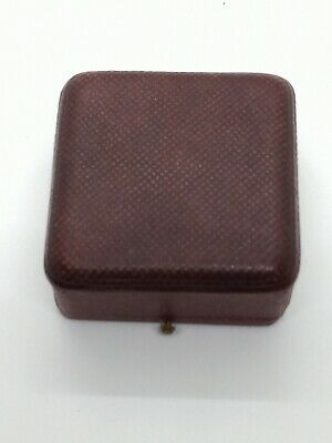 vintage antique jewellery Box Faux Leather For Pendant Velvet And Silk Lined
