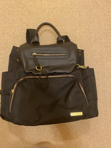 Skip Hop Black Chelsea Downtown Chic Backpack Diaper Bag