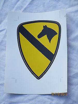1st Cavalry ,Aufkleber,Sticker,Größe  135x185mm