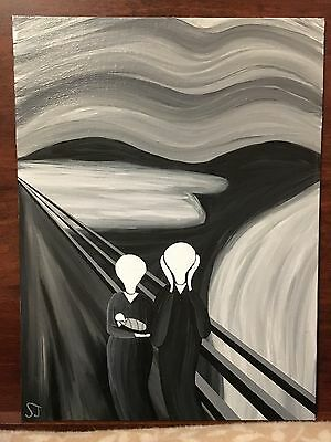 Original  Twisted Edvard Munch Painting
