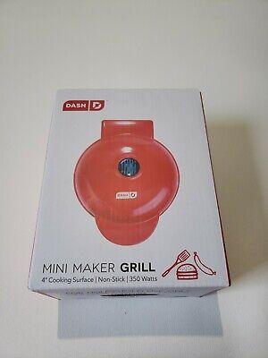 Dash Mini Maker Grill Machine Panini Press Small Kitchen Appliance - (Red)
