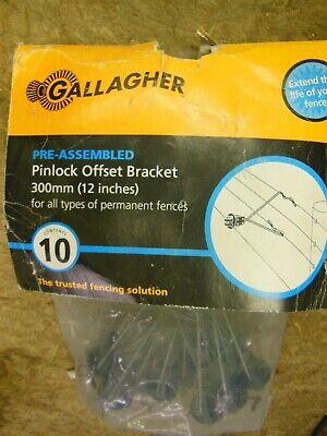 Gallagher Electric Fence 12 Pinlock Offset Bracket Insulator - Livestock New