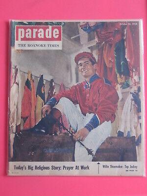 Willie Shoemaker Jockey Parade Magazine The Roanoke Times October 10  1954