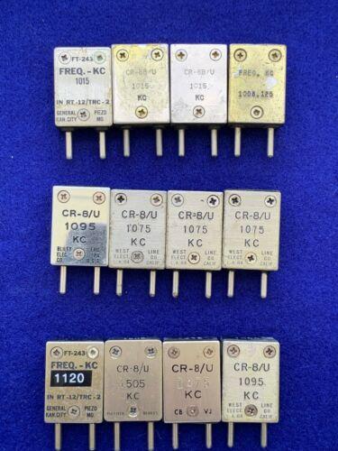 Vintage FT-243 CR-8/U MF CRYSTALS for AM Band 1000 - 1700 kHz