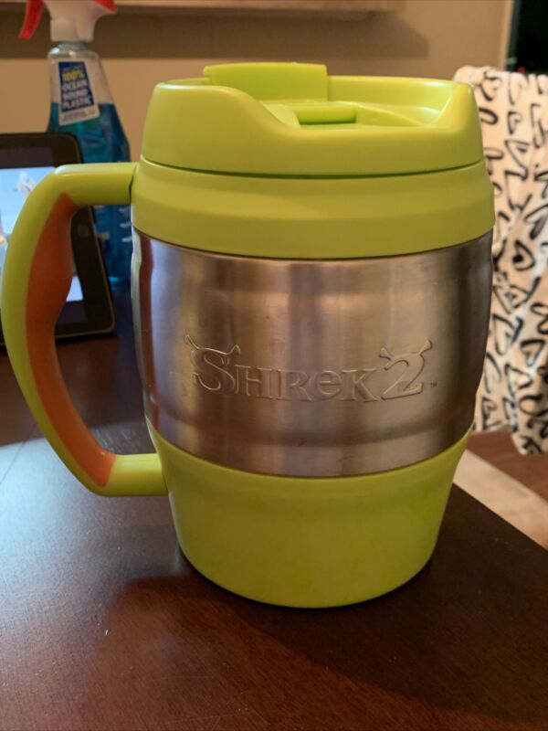 Used Green Shrek 2 Swamp Cooler 52oz Insulated Tumbler Bubba Keg Mug