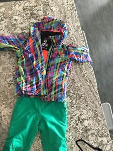 Girls size 14 winter coat and m/m pants