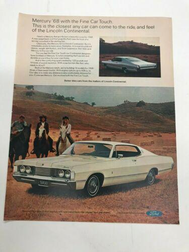 1968 Mercury  vintage  automobile advertisement ad