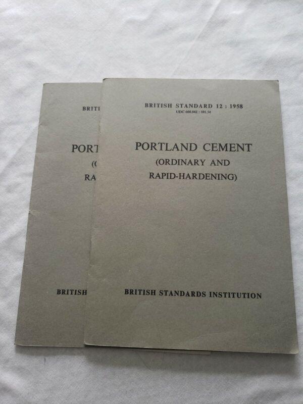 British Standard 12 : 1958 Portland Cement (Ordinary and Rapid Hardening)