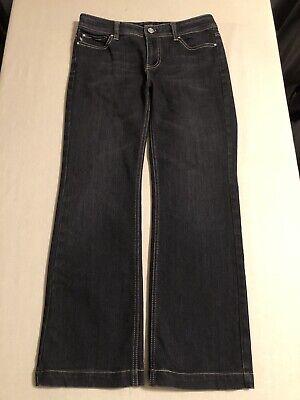 White House Black Market Women's Boot Cut Stretch Black Jeans Size 4S