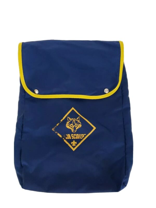 Cub Scouts Wolf Navy Blue Nylon Bookbag Backpack Carry Bag