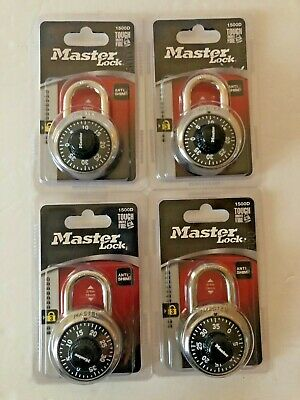 Lot Of 4 Master Lock 1500d Combination Lock