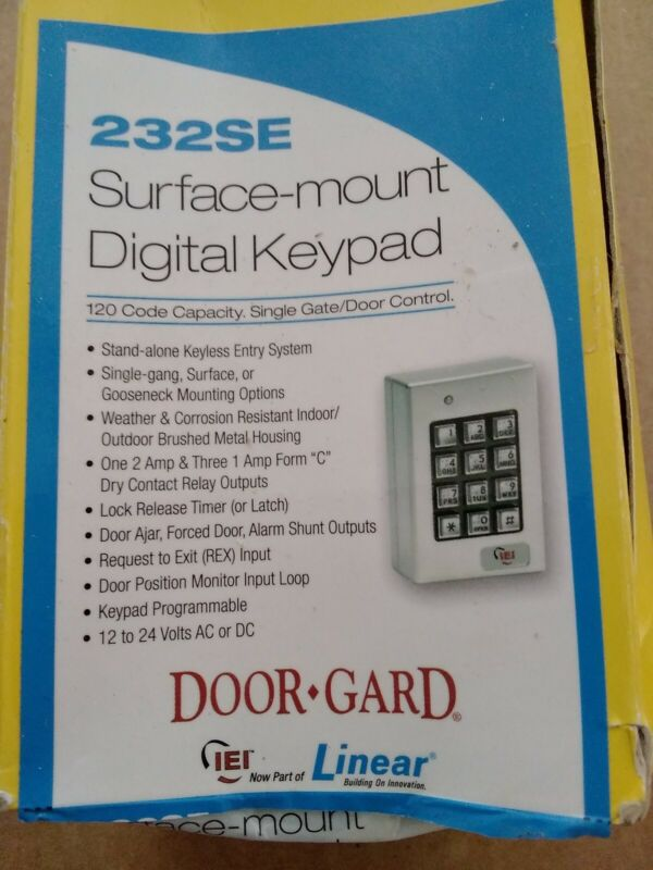 Linear 232SE, 0-232140 Indoor / Outdoor Surface-mount Weather Resistant Keypad
