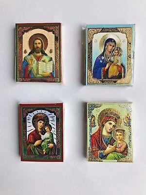 2x Icon Holy Mary Jesus Christ Peel and Stick Икона Божией Матери Иисуса Христа
