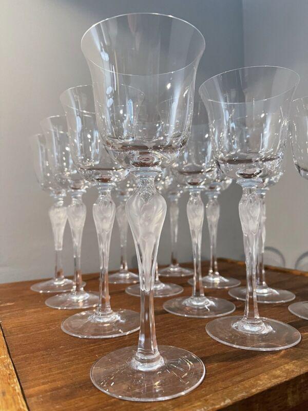 Lot Vintage (12) Faberge Wine Glasses - Ballerina Anna Pavlova