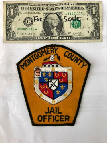 Rare Montgomery County Maryland Police Patch (JAIL OFFICER) un-sewn great shape