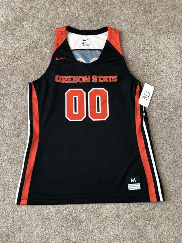Nike Women's Orange & Black Medium Oregon State Basketball Jersey