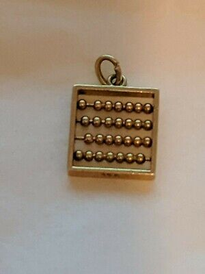 Vintage Fine Detail Charms 14KT Yellow Gold Abacus