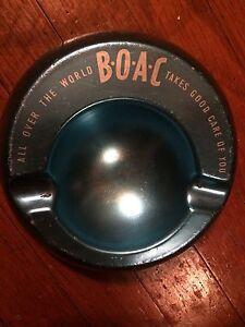 BOAC Alloy Advertising Ashtray