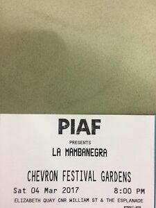 2 x LA MAMBANEGRA (PIAF CONCERT TICKETS) 4TH MAR 8PM $90 THE PAIR  ONO Noranda Bayswater Area Preview