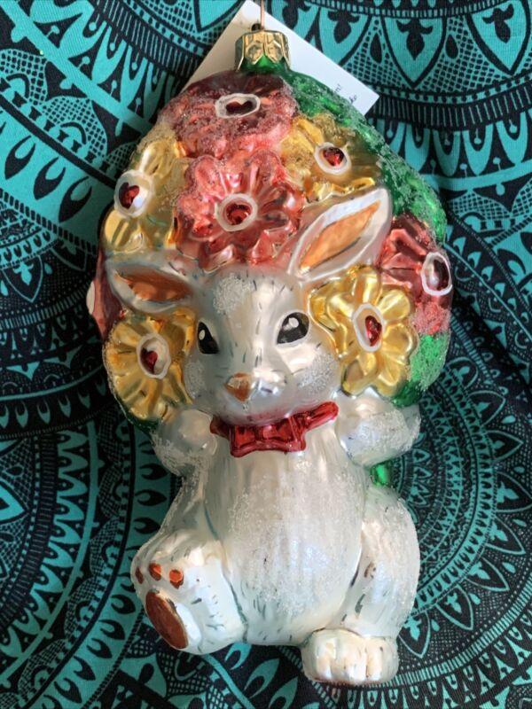 "Radko YOUR THE BEST MUM 98-503-0 Bunny Rabbit Flowers Lady Bug Easter NIB 5.5"""