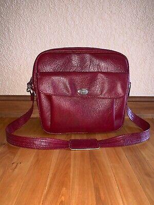 Vintage Samsonite Carry On Shoulder Bag Retro Luggage Red Centry