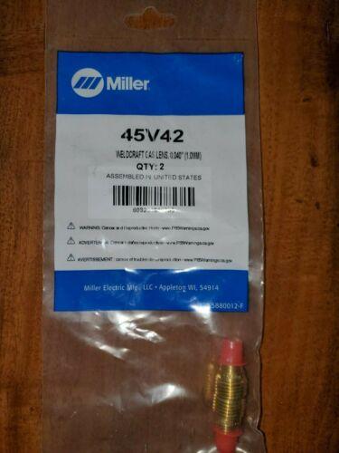 """Miller-WeldCraft 45V42 Gas Lens 0.040""""/1.0mm, 2 PK"""