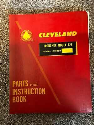 Cleveland Trencher Model J26 Parts Instruction Manual