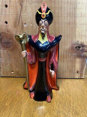 "Disney Aladdin JAFAR Ceramic Porcelain Figurine Vintage Japan 8.5"""