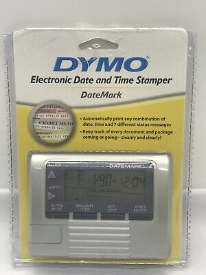 Dymo Datemark Stamp 47002 Electronic Date Time Stamper.