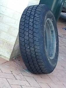 2 Brand New Black Rim Tyres