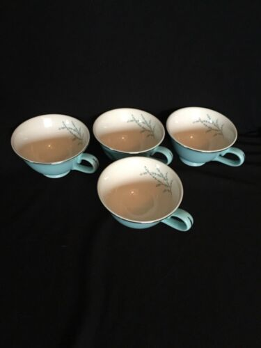 Vintage Taylor Smith Taylor Blue Twig Cups - Set of 4