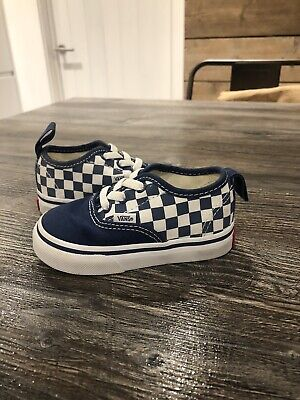 Size 4.5 Infant Kids Trainers Vans Blue Off The Wall